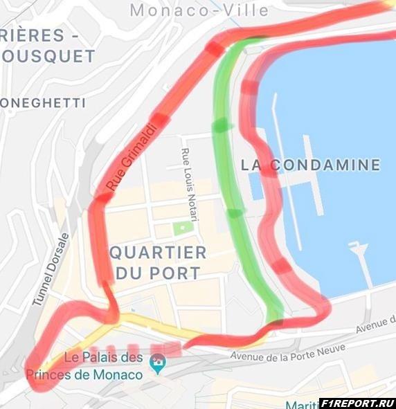 Как можно изменить конфигурацию трассы в Монако?