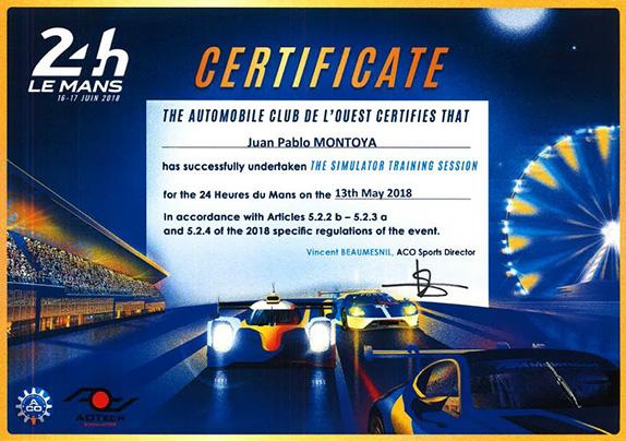 Сертификат Хуана-Пабло Монтойи