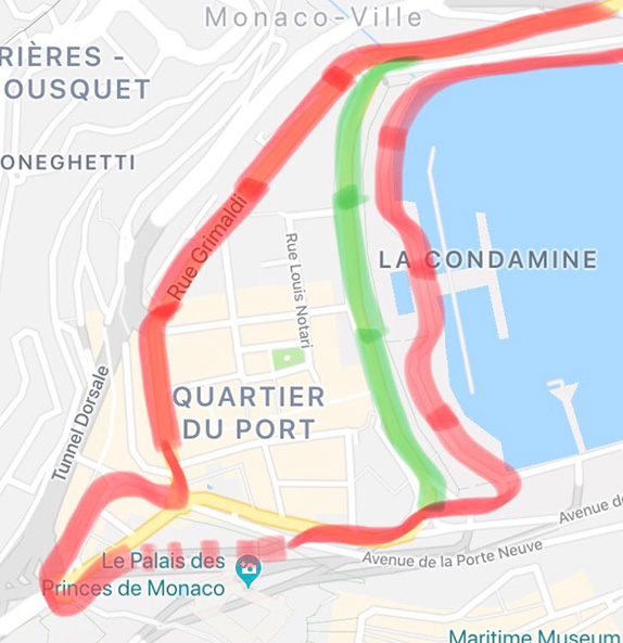 Нужно ли менять конфигурацию трассы в Монако?