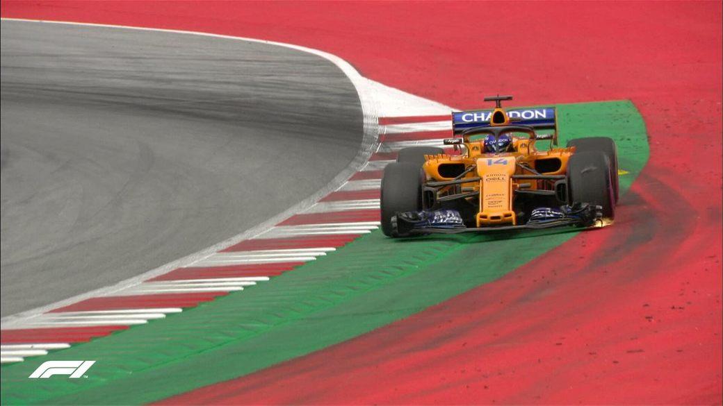 Алонсо опередил только Стролла во втором сегменте квалификации Гран При Австрии