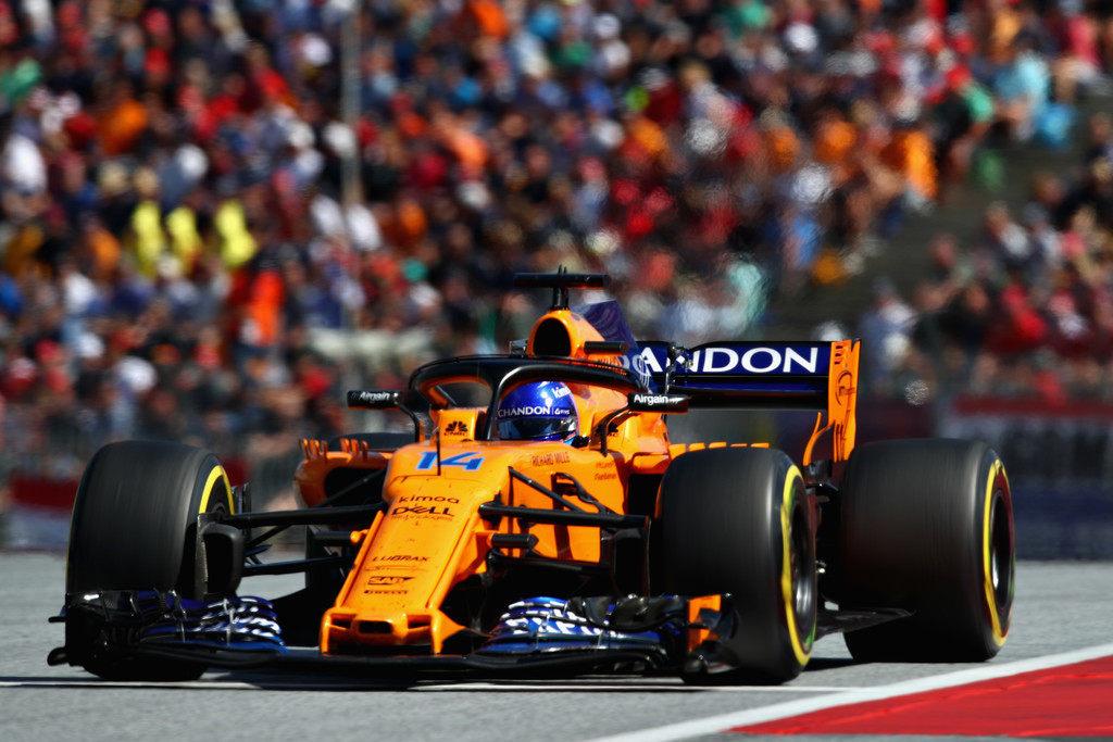 На Гран При Австрии McLaren использовала прошлогоднее антикрыло
