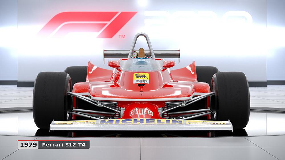 В видеоигре F1 2018 будет представлено 20 классических машин
