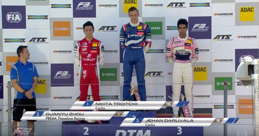 На этапе Формулы 3 в Зандворте снова перепутали российский гимн на подиуме
