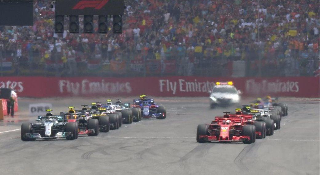 Себастьян Феттель сохранил лидерство после старта Гран При Германии