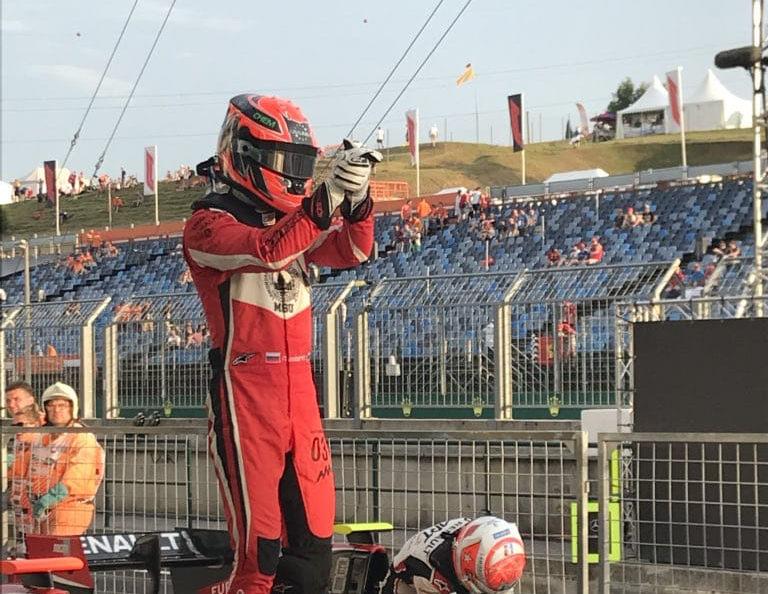 Никита Мазепин выиграл первую гонку этапа GP3 на Хунгароринге