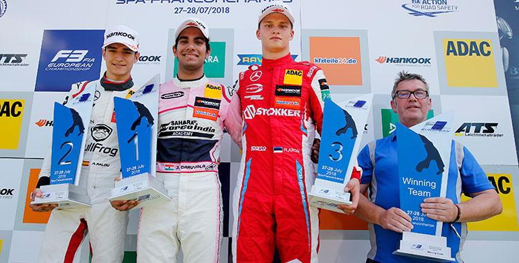 Дарувала и Тиктум выигрывают первые две гонки Евро-Ф3 в Спа