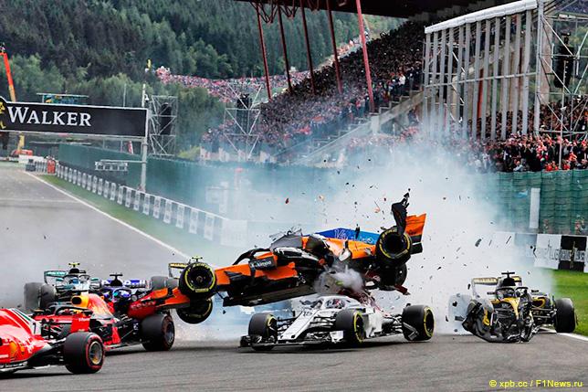 Гонщики: Штрафные баллы после Гран При Бельгии