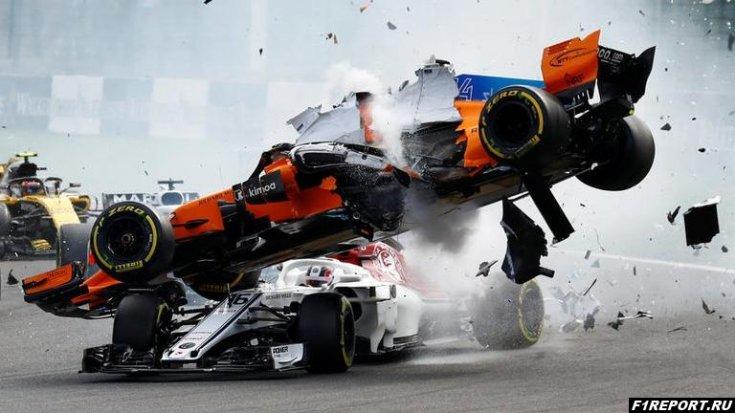 Аварии в первом повороте гонки в Спа будут стоить командам больше 1,5 млн. евро