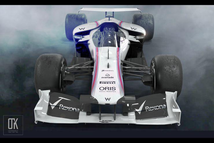 Рендер машины Формулы 1 2021 года от болельщика