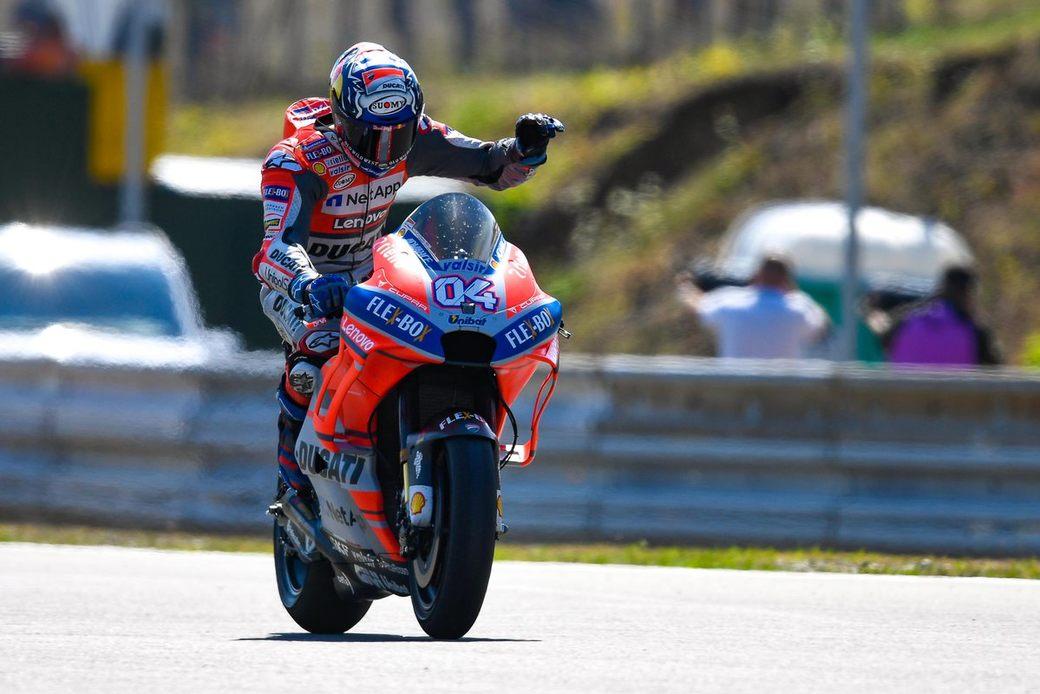 Андреа Довициозо отпраздновал победу в 100-й гонке в составе Ducati