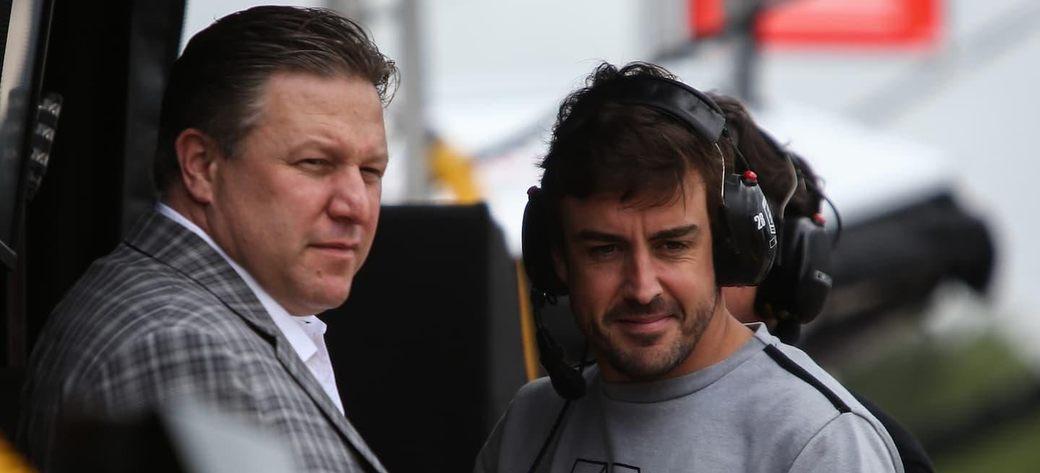 Зак Браун: Фернандо Алонсо – настоящая легенда Формулы 1 и McLaren