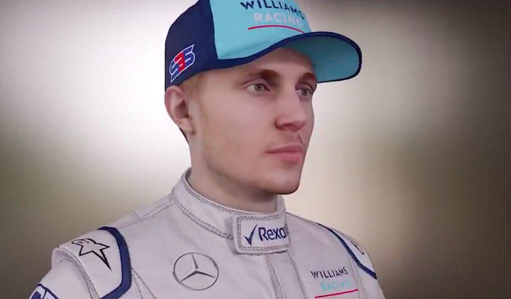 Как будет выглядеть Сергей Сироткин в игре F1 2018? Смотрите на видео