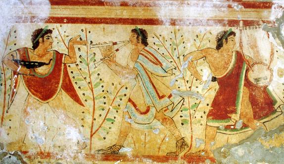 Этрусская фреска 5 века до н.э.