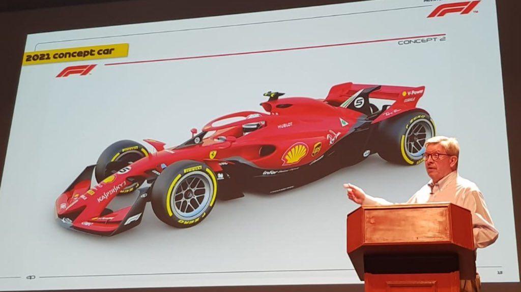 Liberty Media показала концепт машины Формулы 1 2021 года