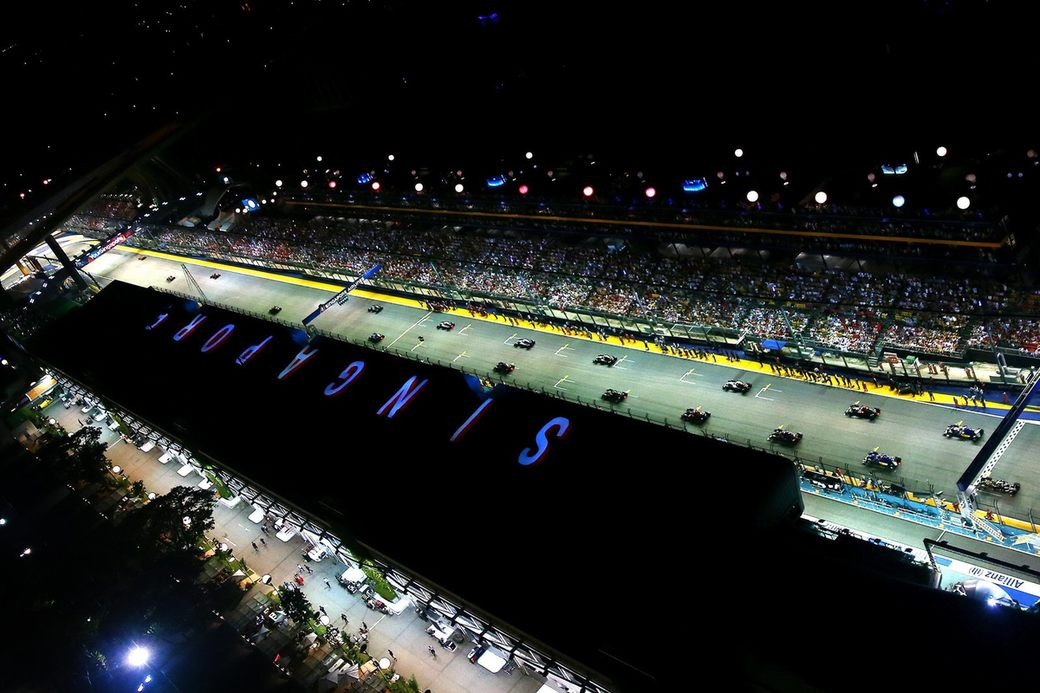 Стартовая решетка Гран При Сингапура