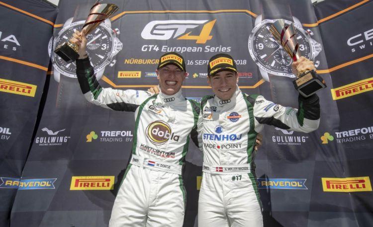 Донтье и Мёллер-Медсен в драматичном финале завоевали чемпионский титул в европейской серии ГТ4