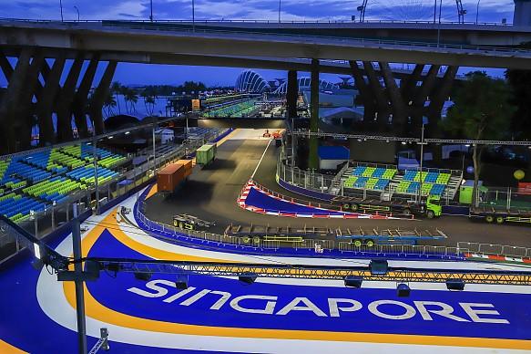 Небольшие изменения трассы Большого приза Сингапура
