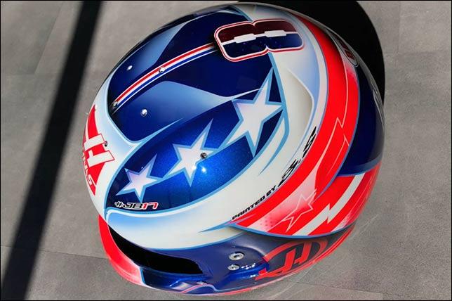 Грожан обновил раскраску шлема к Гран При США