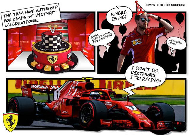 В Ferrari поздравили Кими с 39-летием