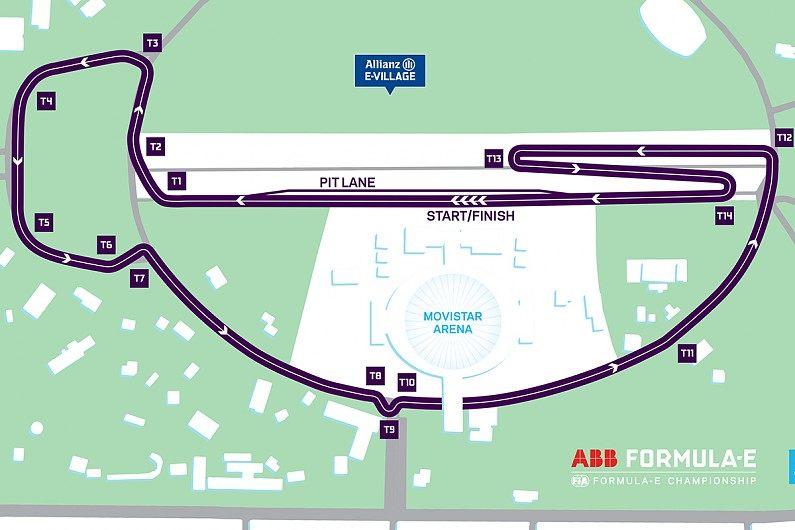 Стала известна конфигурация трассы Формулы Е в Сантьяго