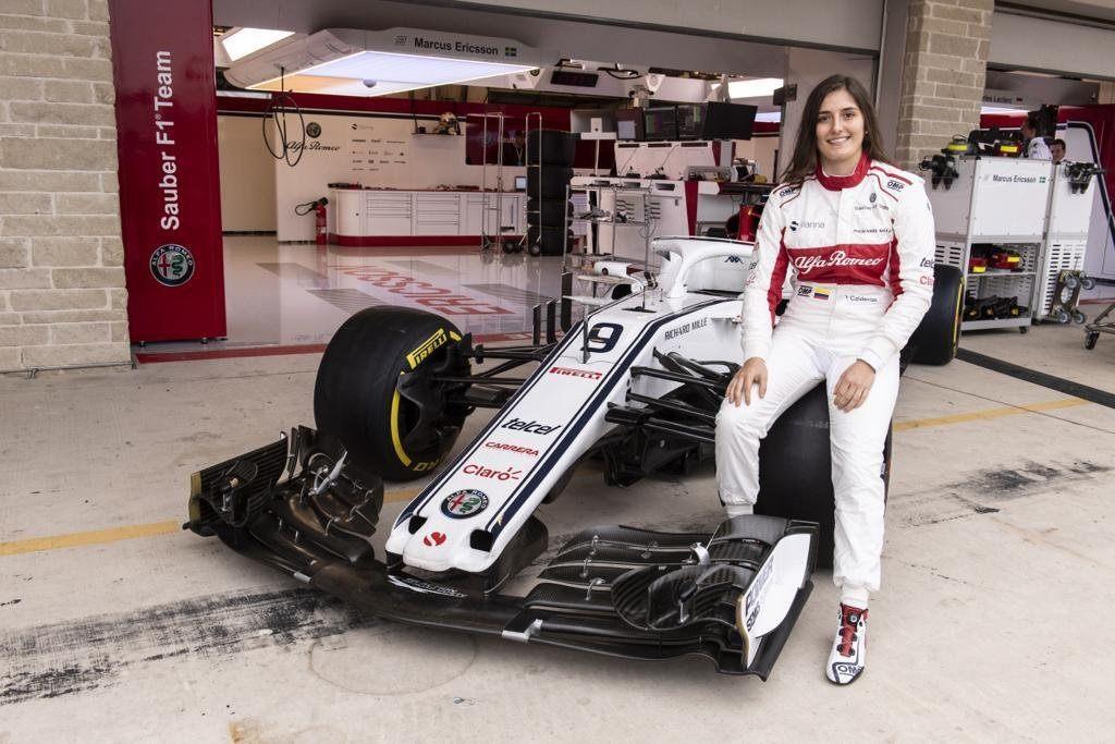 Татьяна Кальдерон дебютирует за рулем автомобиля Sauber