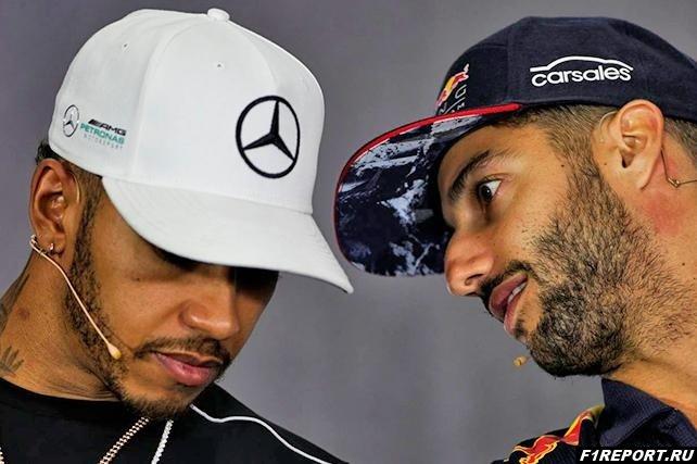 Риккардо:  За рулем такого же болида я бы добился таких же результатов, что и Хэмилтон