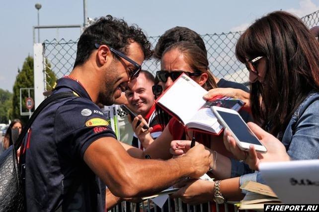 Риккардо:  Болид Red Bull отлично работает с шинами