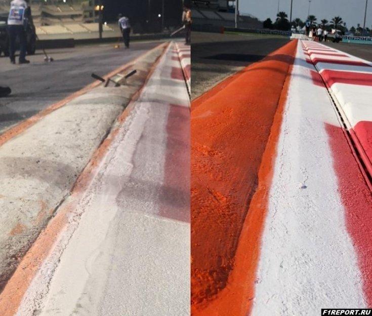 После жалоб гонщиков в Абу-Даби изменили бордюр в 20-м повороте