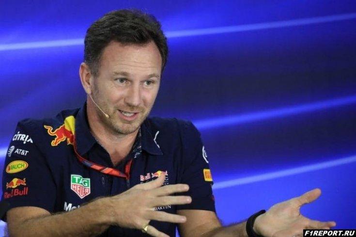 Хорнер:  Ферстаппену повезло, что в Мексике он смог финишировать в гонке