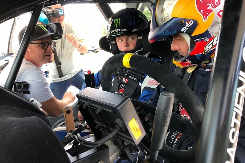 Себастьен Лёб дал уроки вождения сыну Петтера Сольберга на тестах во Франции