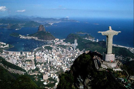 Вид на современный Рио-де-Жанейро