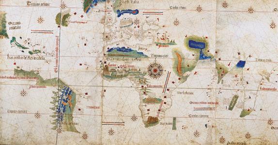 Планисфера Кантино - первая карта, на которой появились очертания бразильских берегов