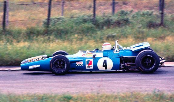 Джеки Стюарт за рулём Matra MS80 на Гран При Нидерландов 1969 года