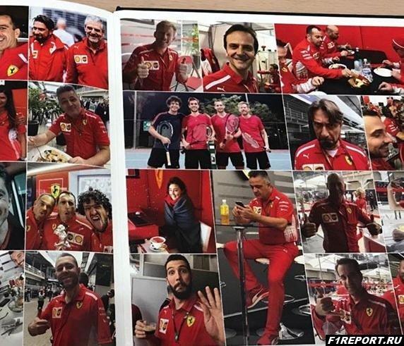 Феттель составил для сотрудников Ferrari целую книгу рождественских поздравлений