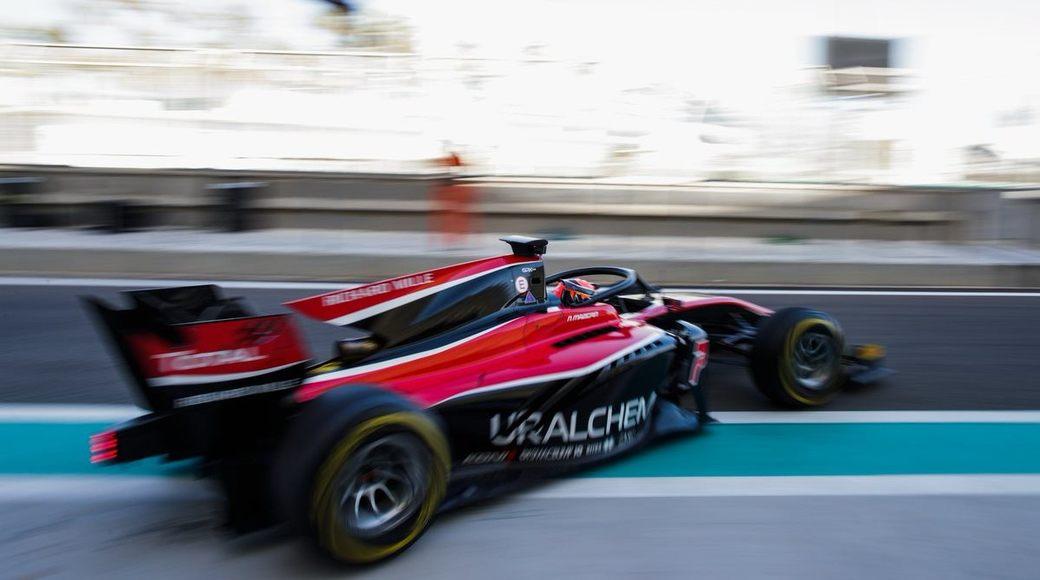 Никита Мазепин стал девятым во второй день тестов Формулы 2 в Абу-Даби