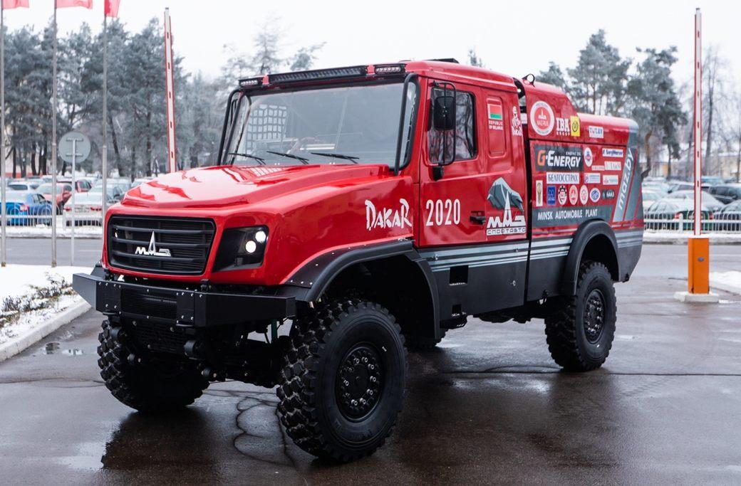 МАЗ планирует выставить капотный грузовик на Дакаре-2020