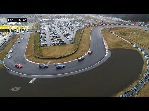 «Хонда» выиграла прерванную из-за дождя гонку, впервые в истории «Супер ГТ» начислены половинные очки