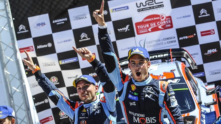 Тьерри Нёвилль одержал победу в драматичном ралли «Тур де Корс»