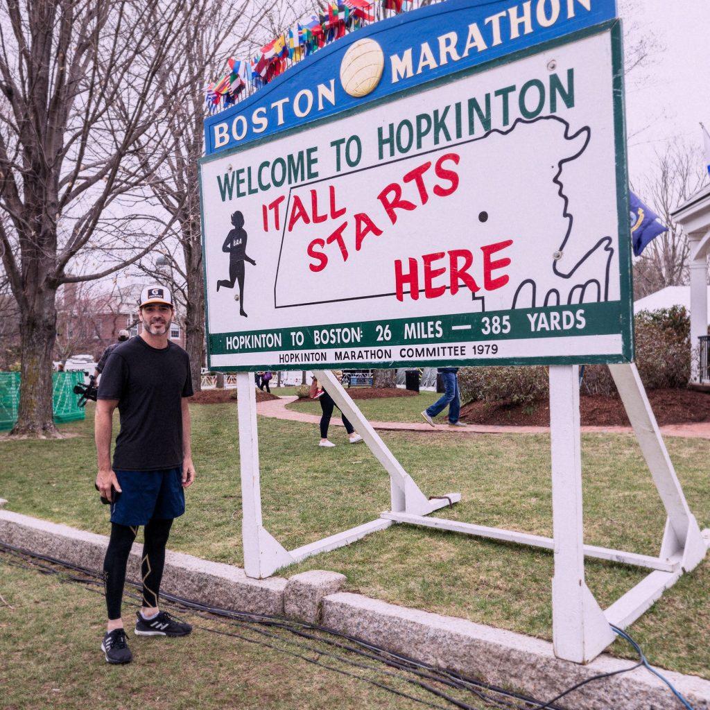 Джимми Джонсон принял участие в «Бостонском марафоне»