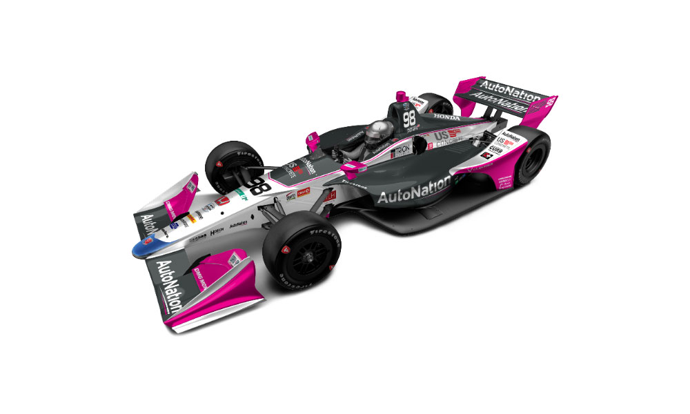 Автомобиль Марко Андретти на Гран-при Детройта будет частично розовым