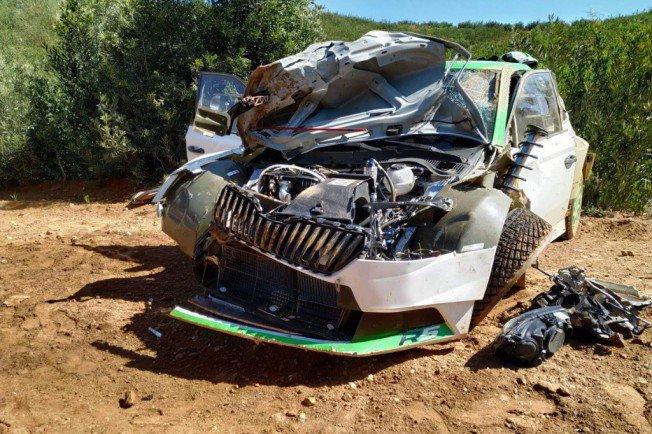 Ян Копецки попал в тяжёлую аварию на тестах новой «Шкода Фабиа Р5»