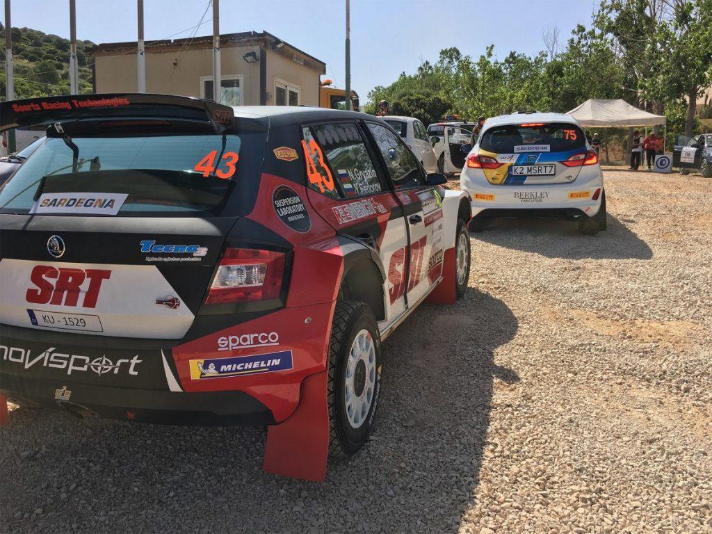 Николай Грязин показал быстрейшее время в WRC-2 на стартовом спецучастке Ралли Сардинии
