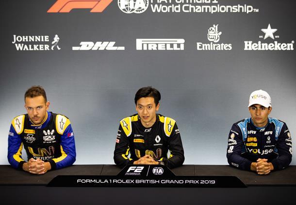 Чжоу: Когда завоевал поул, то закричал по радио. Пресс-конференция по итогам квалификации «Формулы-2» в Великобритании