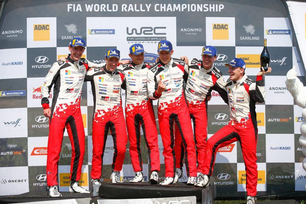 Отт Тянак в третий раз подряд выиграл Ралли Германии, Грязин вышел в лидеры WRC-2