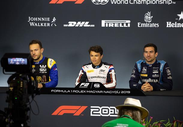 Ник де Врис: Надеюсь, гонка будет не такая драматичная, как этап «Формулы-1» в Германии. Пресс-конференция по итогам квалификации Ф2 в Венгрии
