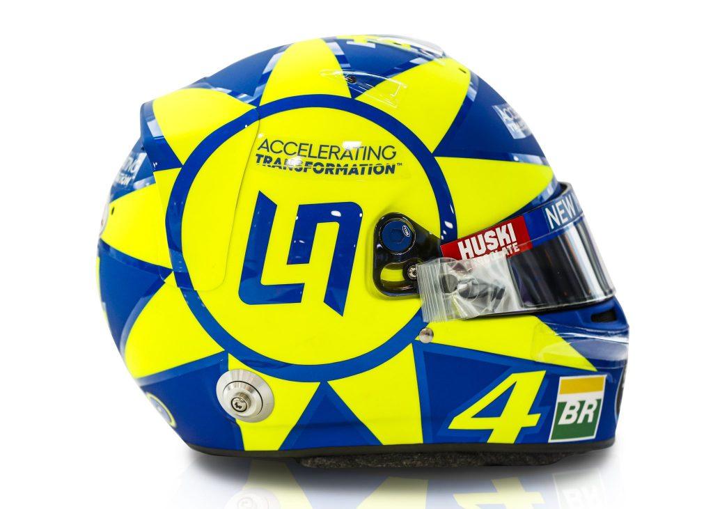 Норрис изменил шлем в честь Валентино Росси
