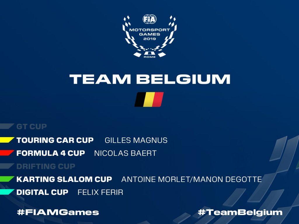 В сборной Бельгии огласили заявку на Международные автоспортивные игры