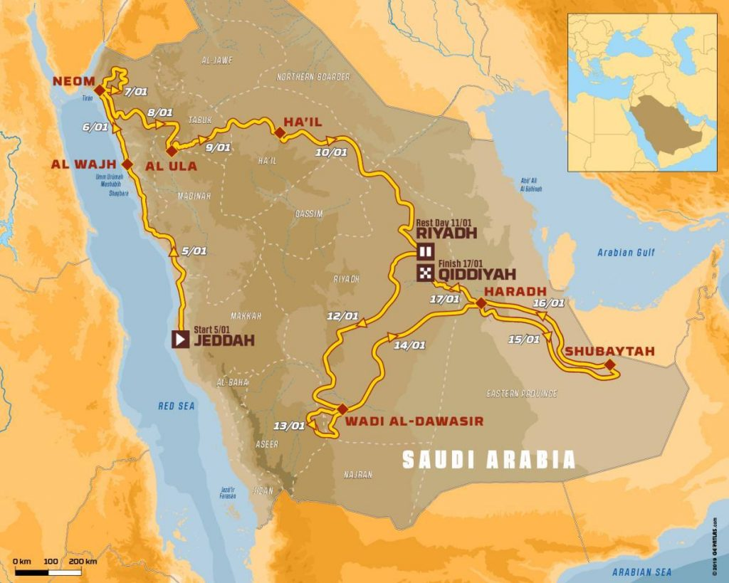 Опубликован список участников ралли-рейда «Дакар-2020»