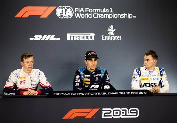 Камара: Я бы не хотел оказаться пятым в конце сезона. Пресс-конференция первой тройки по итогам квалификации «Формулы-2» в Абу-Даби