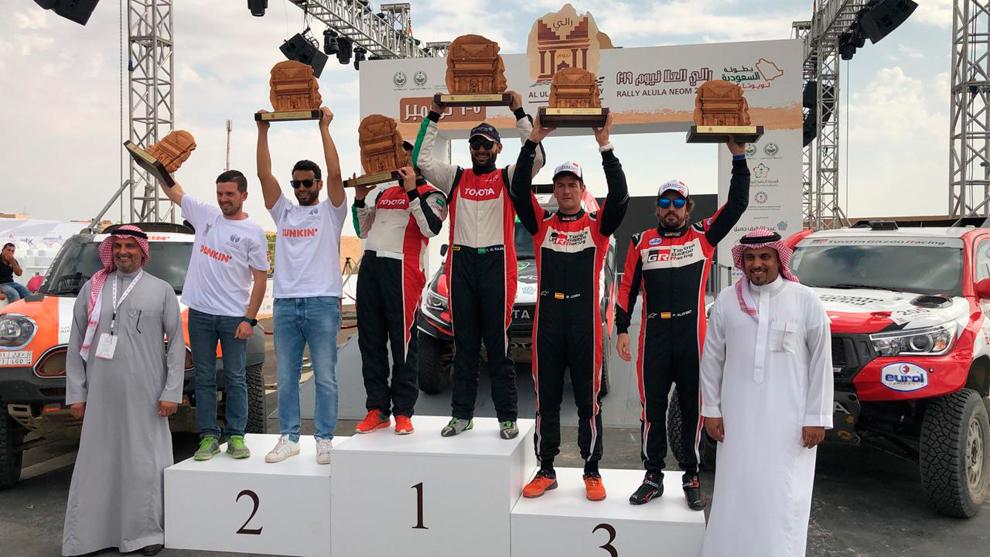 Алонсо финишировал третьим в ралли-рейде в Саудовской Аравии
